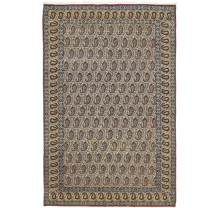 4' 3 x 7' Qom Persian Rug