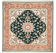 Link to 5' x 5' 1 Tabriz Persian Square Rug