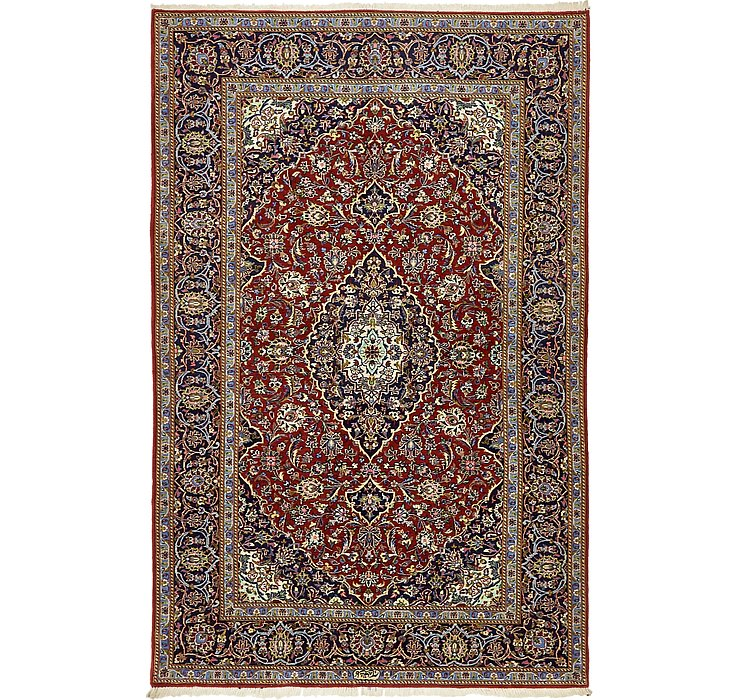 4' 8 x 7' 2 Kashan Persian Rug