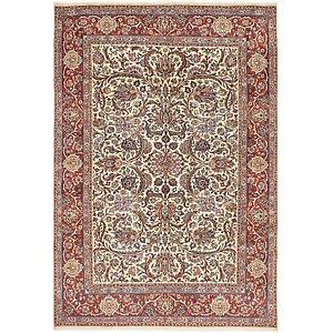 6' 8 x 9' 7 Sarough Persian Rug
