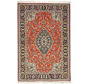 Link to 4' 6 x 6' 8 Qom Persian Rug