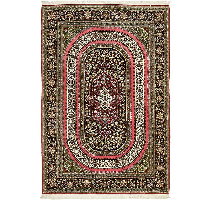 140cm x 208cm Qom Persian Rug