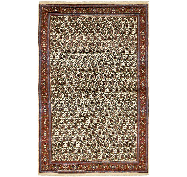 HandKnotted 4' 11 x 7' 8 Mood Persian Rug