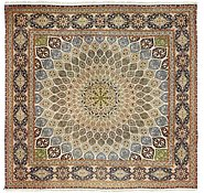 Link to 9' 6 x 9' 6 Tabriz Persian Square Rug