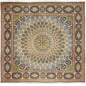 HandKnotted 9' 6 x 9' 6 Tabriz Persian Square Rug