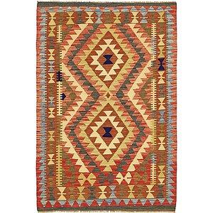 Unique Loom 3' 3 x 5' Kilim Maymana Rug