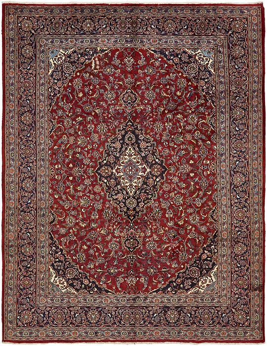 Red 9 7 X 12 8 Mashad Persian Rug Persian Rugs Irugs Uk