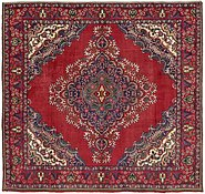 Link to 9' 4 x 9' 9 Tabriz Persian Square Rug