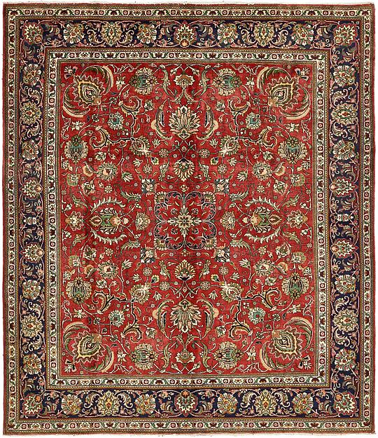 Red 10 X 11 7 Tabriz Persian Rug Persian Rugs Irugs Uk