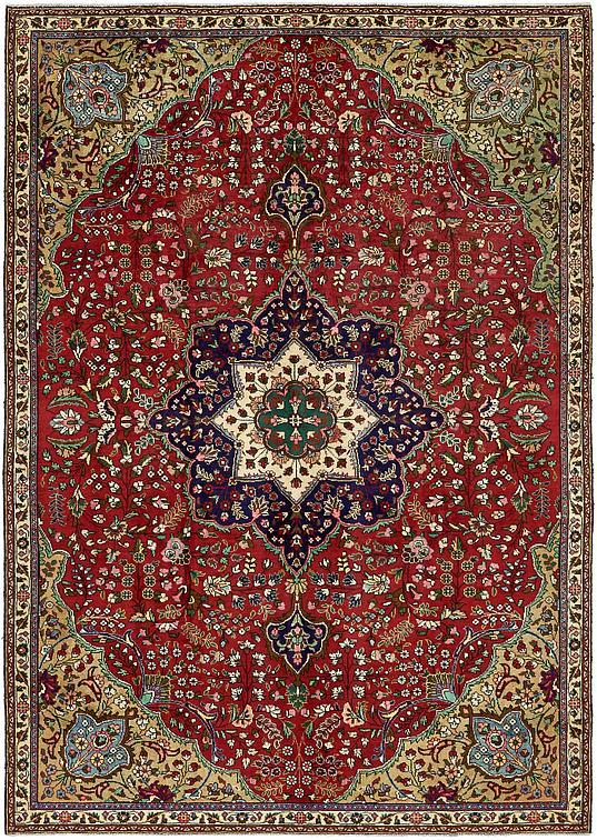Red 7 6 X 10 9 Tabriz Persian Rug Persian Rugs Esalerugs
