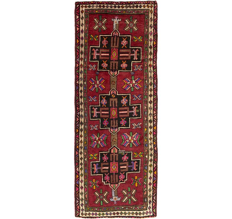 3' 11 x 10' 5 Shiraz Persian Runner Rug