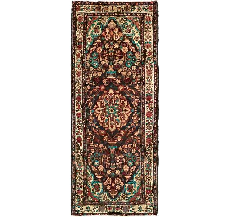 3' 9 x 9' 9 Borchelu Persian Runner...