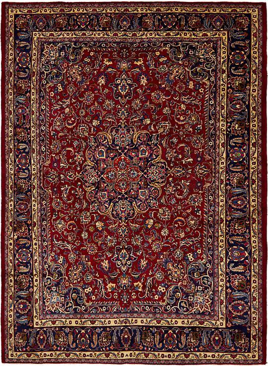 Red 9 5 X 12 10 Mashad Persian Rug Persian Rugs Rugs Ca