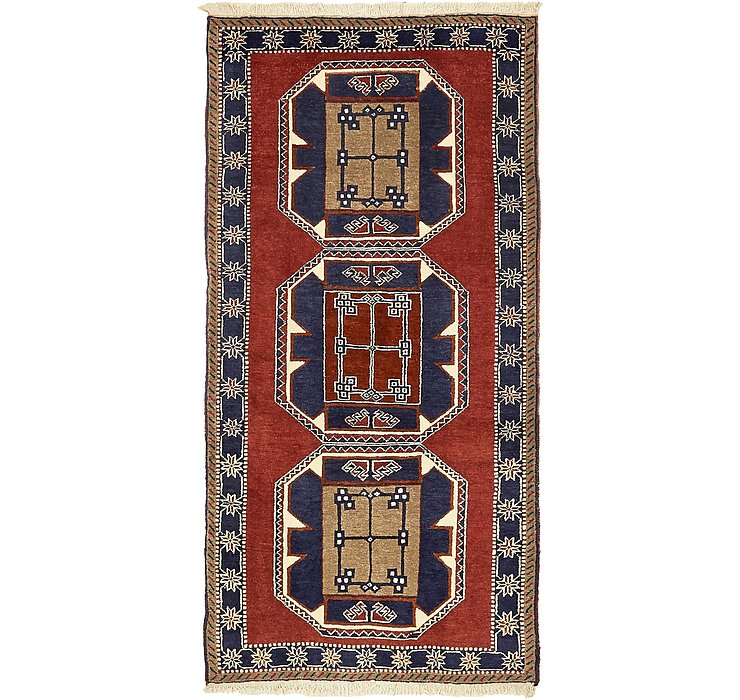 HandKnotted 3' 2 x 6' 4 Kars Oriental Rug