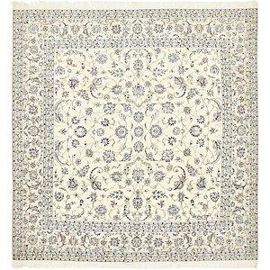 9' 7 x 9' 9 Nain Persian Square Rug