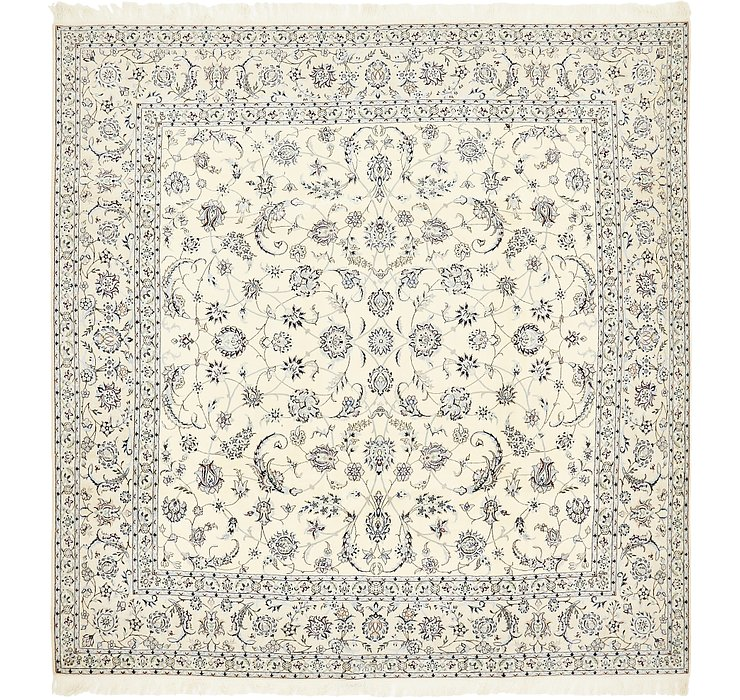 9' 7 x 9' 9 Nain Persian Square Rug