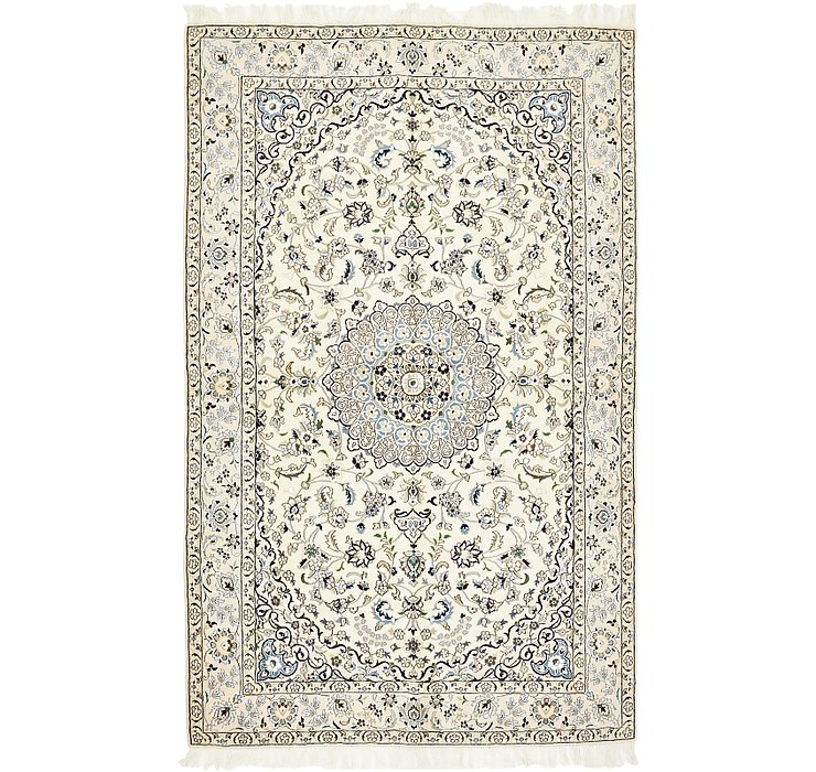 HandKnotted 5' x 8' Nain Persian Rug