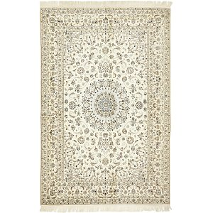 5' 6 x 8' 6 Nain Persian Rug