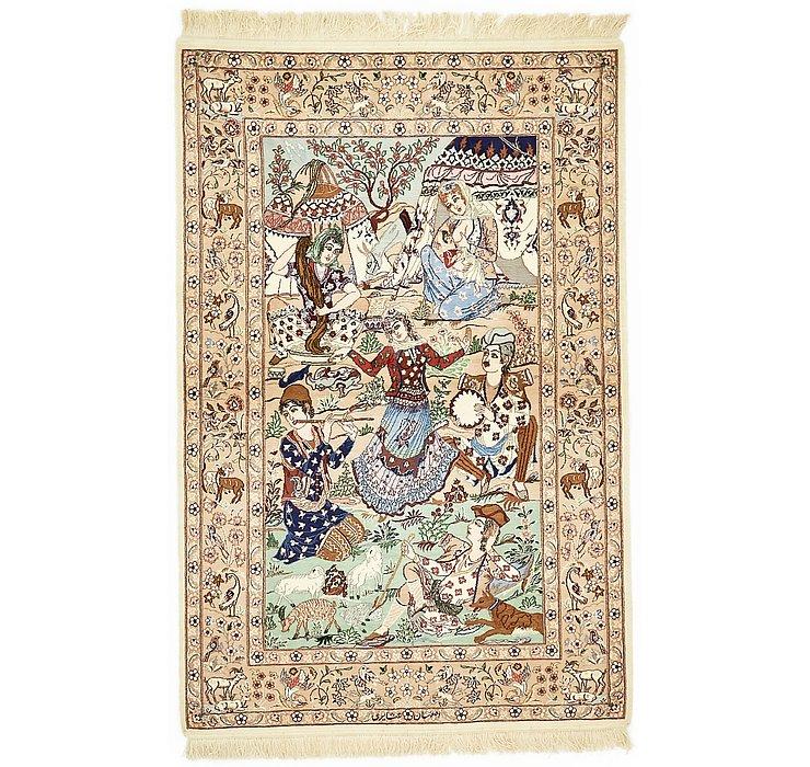 3' 7 x 5' 6 Isfahan Persian Rug
