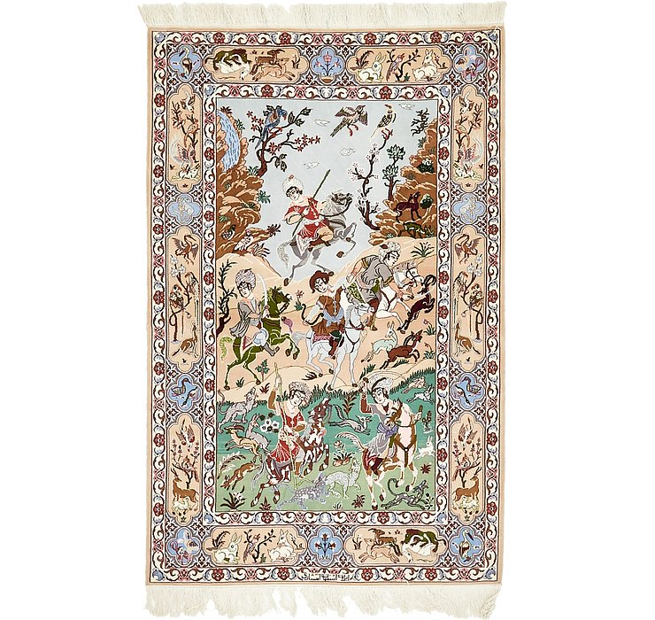 HandKnotted 3' 8 x 5' 8 Isfahan Persian Rug