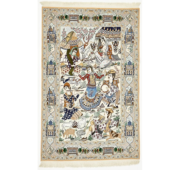 125cm x 198cm Isfahan Persian Rug