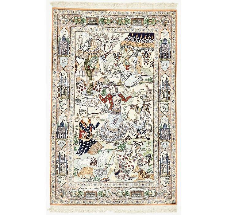 4' 2 x 6' 6 Isfahan Persian Rug
