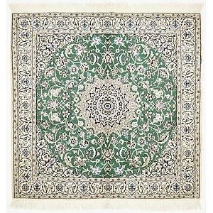 4' 10 x 5' Nain Persian Square Rug