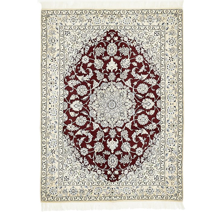 4' 10 x 6' 6 Nain Persian Rug