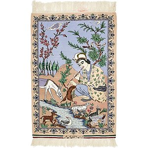 2' 4 x 3' 6 Isfahan Persian Rug