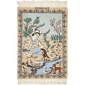 Unique Loom 2' 5 x 3' 6 Isfahan Persian Rug