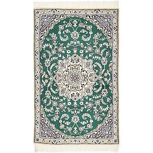 2' 9 x 4' 5 Nain Persian Rug