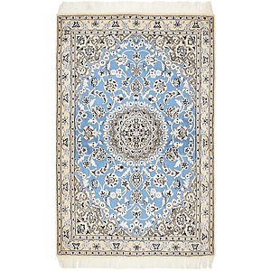 Unique Loom 3' 3 x 5' Nain Persian Rug