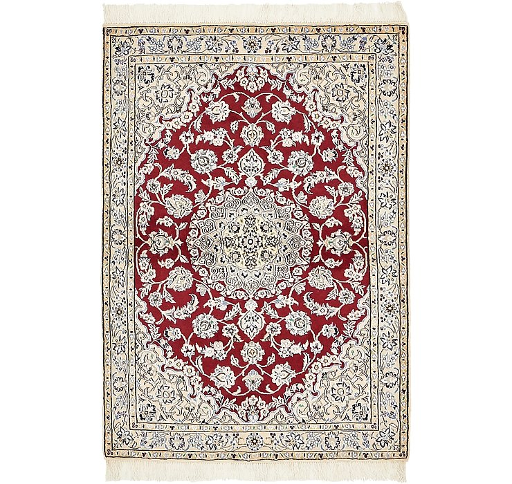 3' 3 x 4' 9 Nain Persian Rug