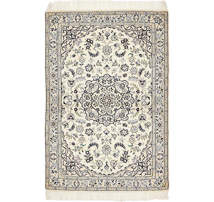 HandKnotted 3' 2 x 4' 9 Nain Persian Rug