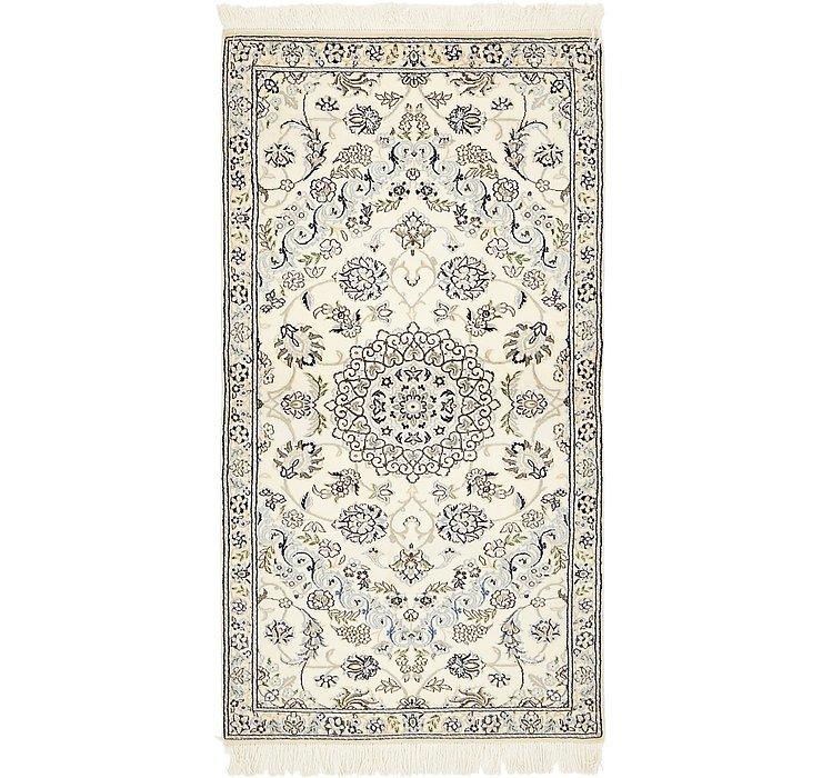 90cm x 168cm Nain Persian Rug
