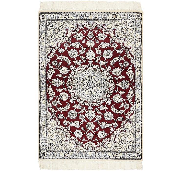 90cm x 132cm Nain Persian Rug