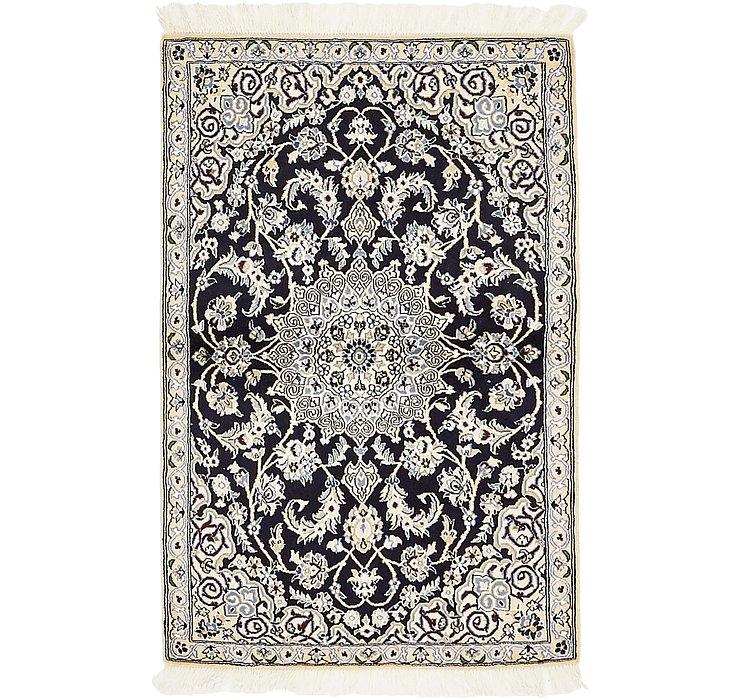 HandKnotted 3' x 4' 5 Nain Persian Rug