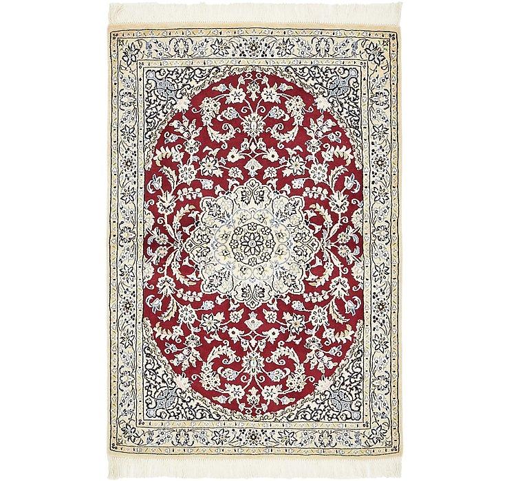 HandKnotted 3' 3 x 4' 10 Nain Persian Rug