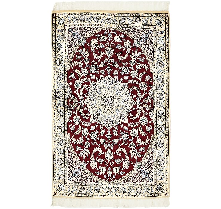 100cm x 157cm Nain Persian Rug