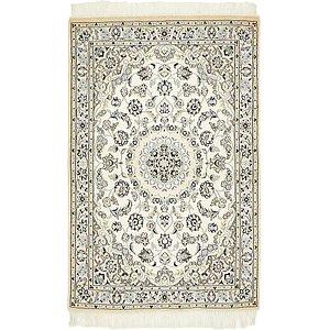 HandKnotted 3' 3 x 4' 11 Nain Persian Rug