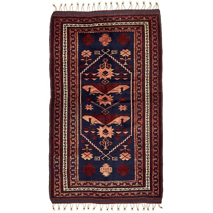 4' 1 x 7' Kars Oriental Runner Rug