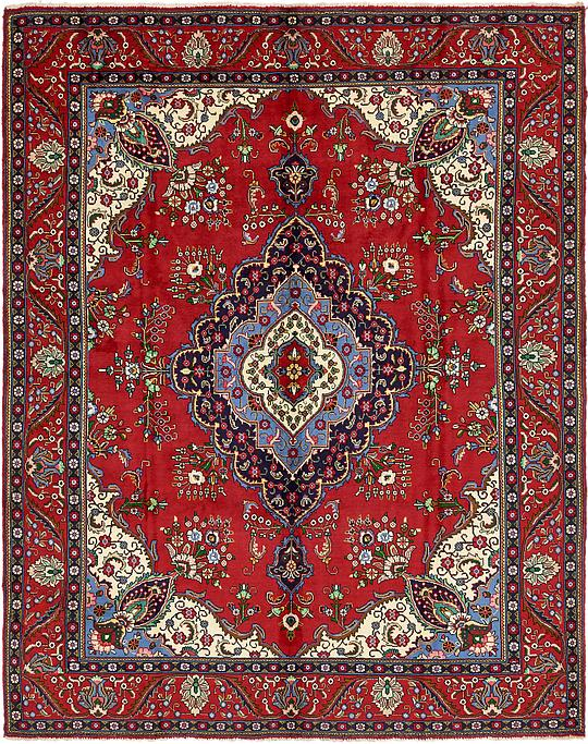 Red 9 8 X 12 6 Tabriz Persian Rug Persian Rugs Irugs Uk
