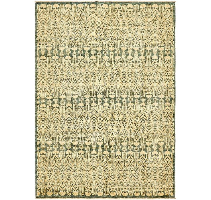 6' 7 x 9' 4 Ikat Oriental Rug