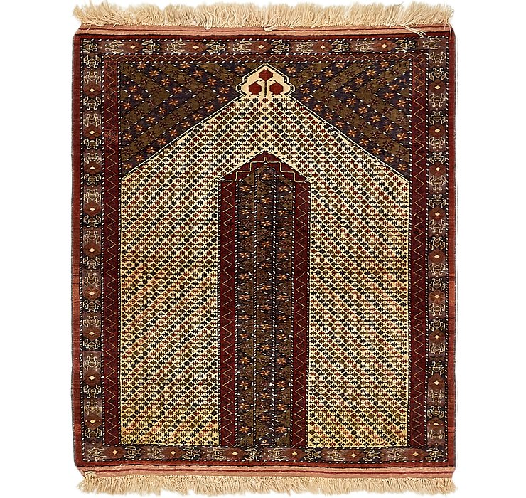 4' x 4' 9 Lahour Oriental Rug
