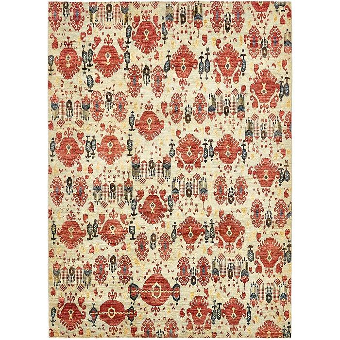 6' 10 x 9' 8 Ikat Oriental Rug