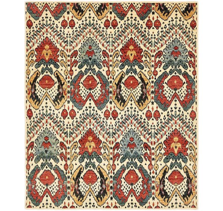 8' 3 x 10' Ikat Oriental Rug