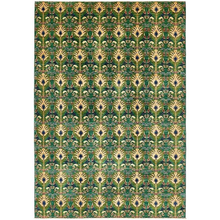 6' 8 x 9' 6 Ikat Oriental Rug