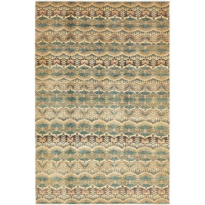 6' 7 x 10' Ikat Oriental Rug
