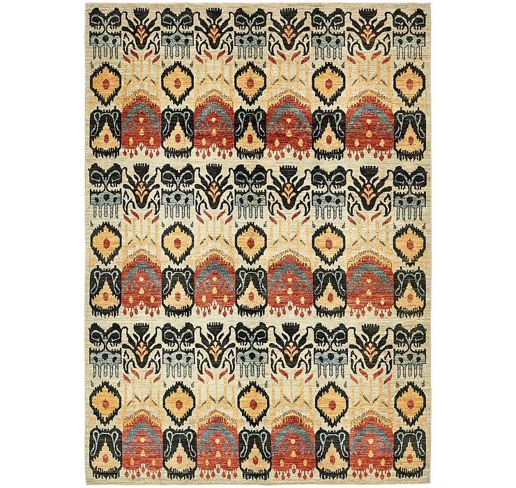 6' 10 x 9' 10 Ikat Oriental Rug