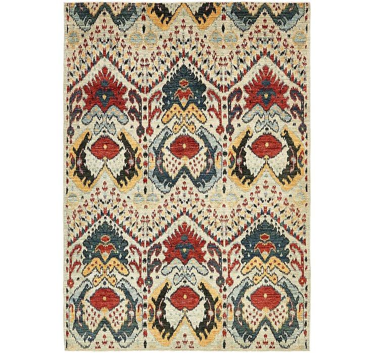 6' 7 x 9' 7 Ikat Oriental Rug